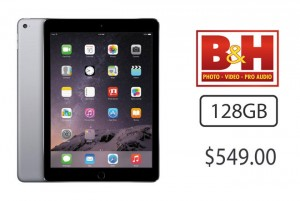 Offers: 128GB iPad Air 2 for $549; up to $410 off 12″ MacBooks with AppleCare; $70-$150 off 11″ Airs