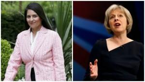 Indian-origin minister Priti Patel backs Theresa May for British PM