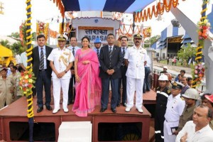 Indian speedy assault craft INS Tarasa launched