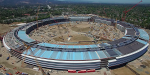 Apple Campus 2 drone flyover captures progress on solar panels & fuel cells, underground theater, and R&D buildings