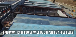 Apple Campus 2 drone flyover captures development on solar panels & gas cells, underground theater, and R&D buildings
