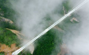 China set to open worlds highest and longest glass bridge