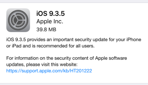 Apple releases iOS 9.3.5 to fix 3 zero-day vulnerabilities [Updated]