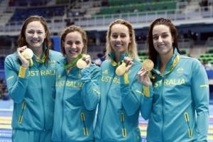 #ReadySetRio: Australian women set world record to win 4x100m free gold