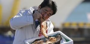 Glorious photos of world leaders eating badly in public