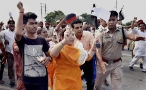 Kejriwal shown black flags again after landing in Amritsar