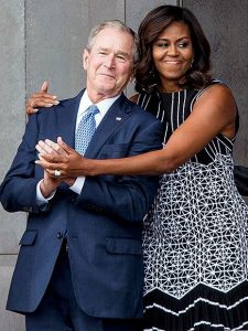 Michelle Obama Cradling George W. Bush Is the Internet's Latest Photoshop Craze