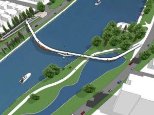 NCC votes for new 'plain' pedestrian bridge design over canal