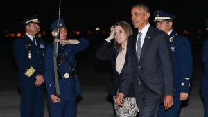 Obama Arrives in Peru in Last Stop on Final World Tour
