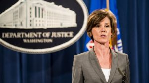 Trump sacks defiant acting attorney general Sally Yates