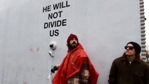 Shia LaBeouf's anti-Trump exhibit shut down over violence